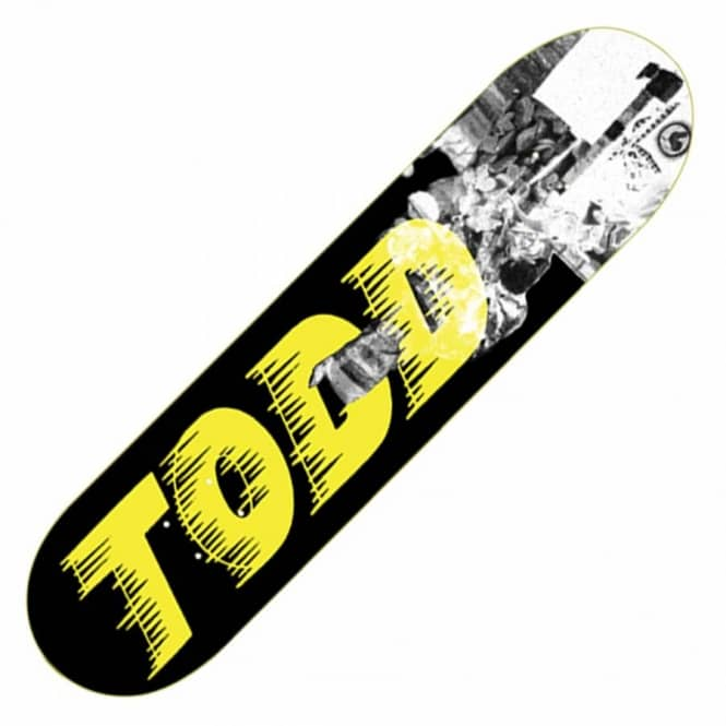 Palace Skateboards Palace Olly Todd Bankhead Black/Yellow Skateboard Deck 8.0''