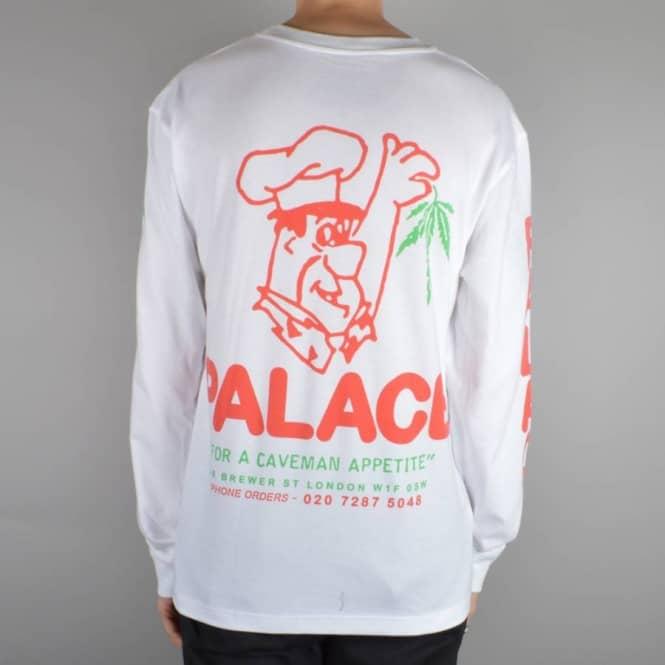 13f60b92 Palace Skateboards Cave Man Longsleeve T-Shirt - White - SKATE ...