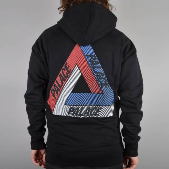 Palace Skateboards Drury Brit Pullover Hoodie - Black - SKATE CLOTHING From Native Skate Store UK