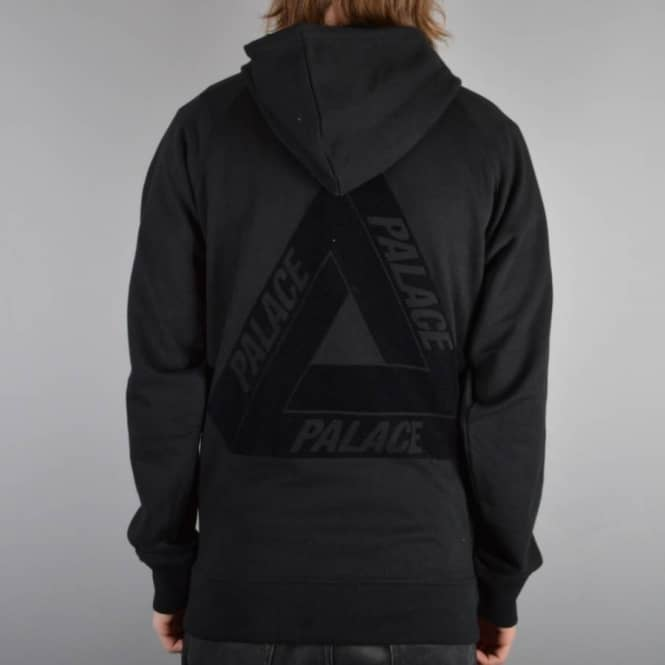 86d6fad01b0a Palace Skateboards Flocka Pullover Hoodie - Black - SKATE CLOTHING ...