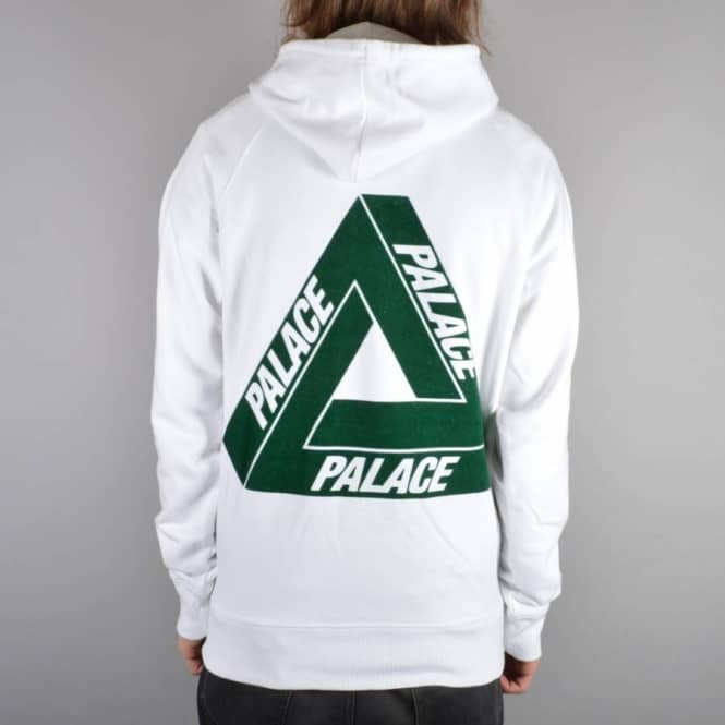 7f74b9fc5db0 Palace Skateboards Flocka Pullover Hoodie - White - SKATE CLOTHING ...
