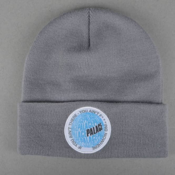 c22cd0ba5397 Palace Skateboards If You Ain t There Beanie - Grey - SKATE CLOTHING ...