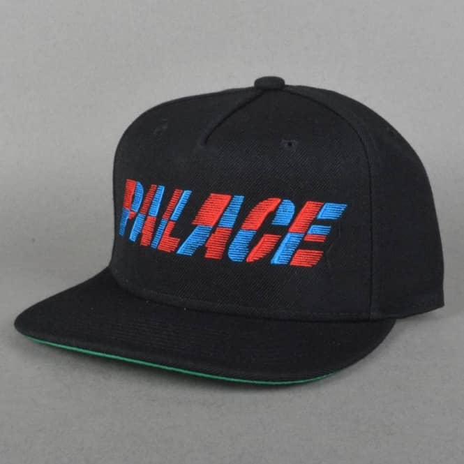 Palace Skateboards One Tooth Snapback Cap - Black - SKATE CLOTHING ... 27b757a3637