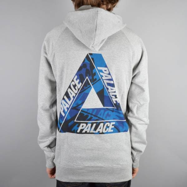 Palace Skateboards One Wave Blue Pullover Hoodie - Grey - Hooded Tops From Native Skate Store UK