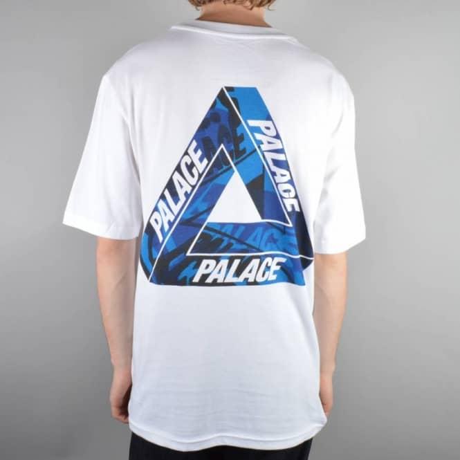 8ba61de695e7 Palace Skateboards One Wave Blue Skate T-Shirt - White - Skate T ...