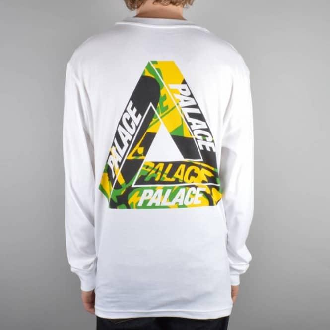 Palace Skateboards One Wave Yard Long Sleeve T-Shirt - White - Skate ... 0c014451353d
