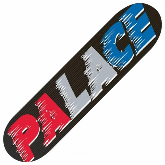 8f28b494fee5 Palace Skateboards Palace Fast Black Team Skateboard Deck 8.1 ...