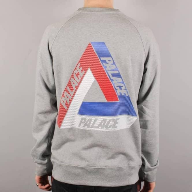 1f5cdda0a810 Palace Skateboards Palace Tri-Line Brit Crewneck Sweater - Grey ...