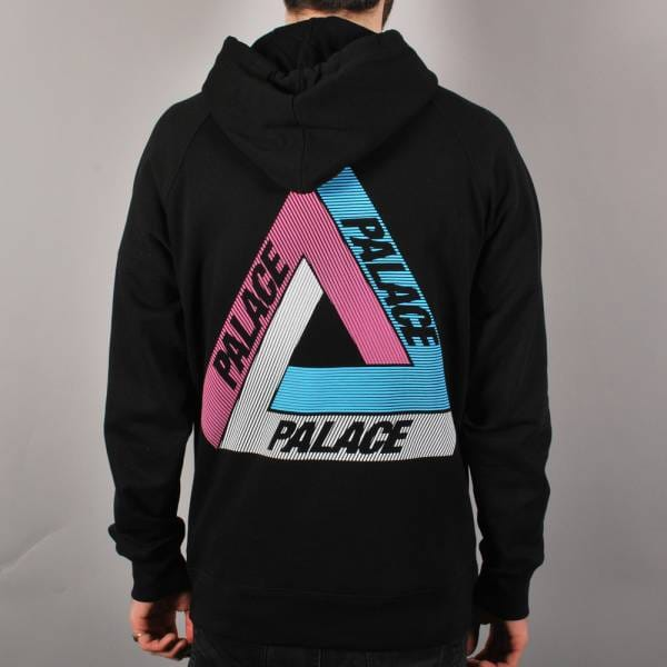Palace Skateboards Palace Tri-Line Pullover Hoodie - Black/Multi - Hooded Tops From Native Skate ...