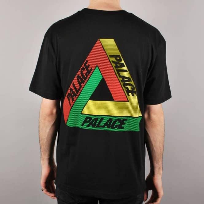 84f4071c6e25 Palace Skateboards Palace Tri-Line Rasta Skate T-Shirt - Black ...