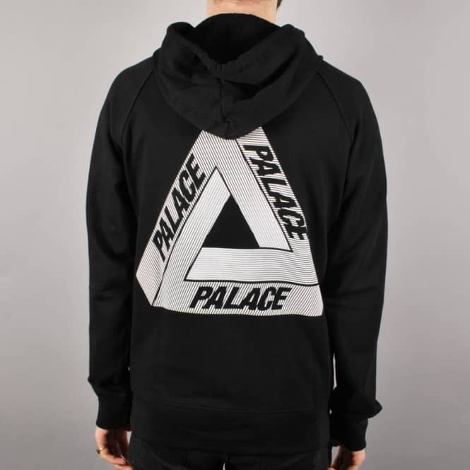 Palace Skateboards Palace Tri-Line Zip Hoodie - Black - Hooded Tops From Native Skate Store UK