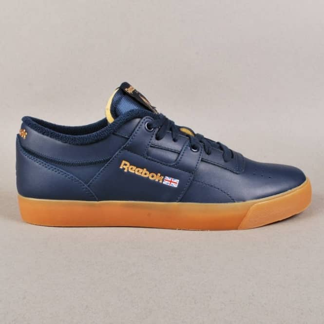 65d2c1ac0bd Palace x Reebok Workout Low Clean FVS Skate Shoes - Collegiate Navy White