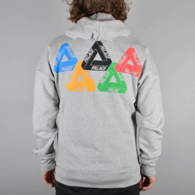 2a8d4ed4e57e Palace Skateboards Performance Zip Hoodie - Grey - SKATE CLOTHING ...