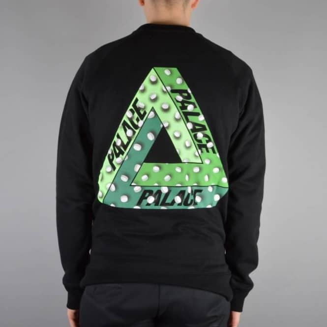 32ddfda46680 Palace Skateboards Tablet Crewneck Sweater - Black - SKATE CLOTHING ...