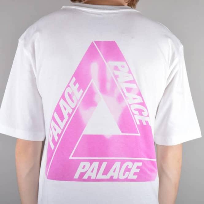 bbe2ccdef0fb Palace Skateboards Tri-Ferg Blue Hyper Skate T-Shirt - White - Skate ...
