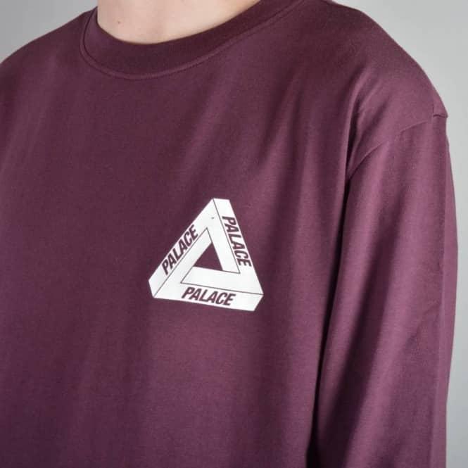 1d0f4c22498b Palace Skateboards Tri-Ferg Long Sleeve T-Shirt - Cordovan - Skate T ...