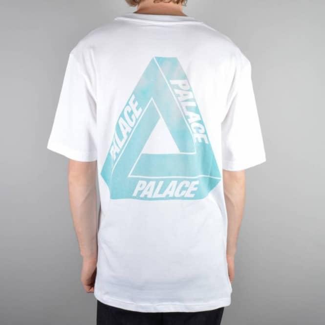 636b2f6b3347 Palace Skateboards Tri-Ferg Pink Hyper Skate T-Shirt - White - Skate ...