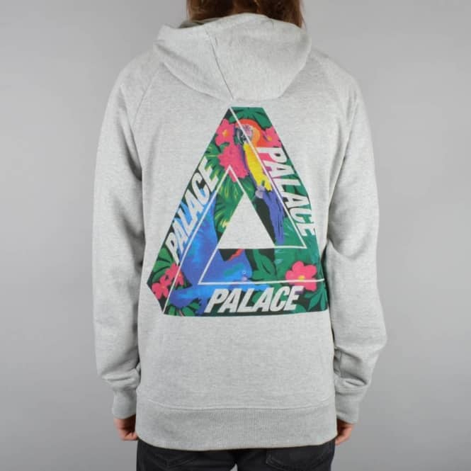 Palace Skateboards Tri-Wild Pullover Hoodie - Grey - SKATE CLOTHING From Native Skate Store UK