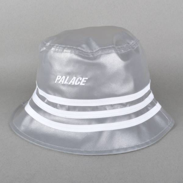 697dc37945cd1 Palace Skateboards x Adidas Originals Bucket Hat - Reflective Grey ...