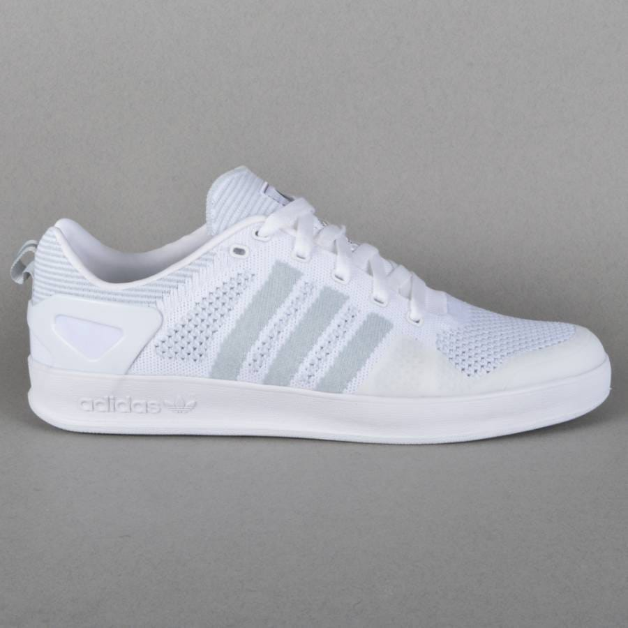 Palace Skateboards x Adidas Originals Indoor Prime Knit Skate Shoes Ftwr WhiteCore BlackFtwr White
