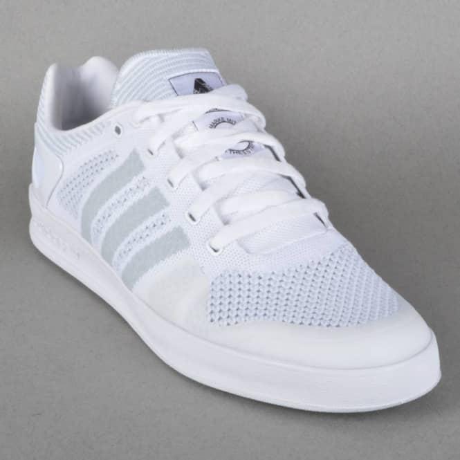 x Adidas Originals Indoor Prime Knit Skate Shoes - Ftwr White/Core  Black/Ftwr
