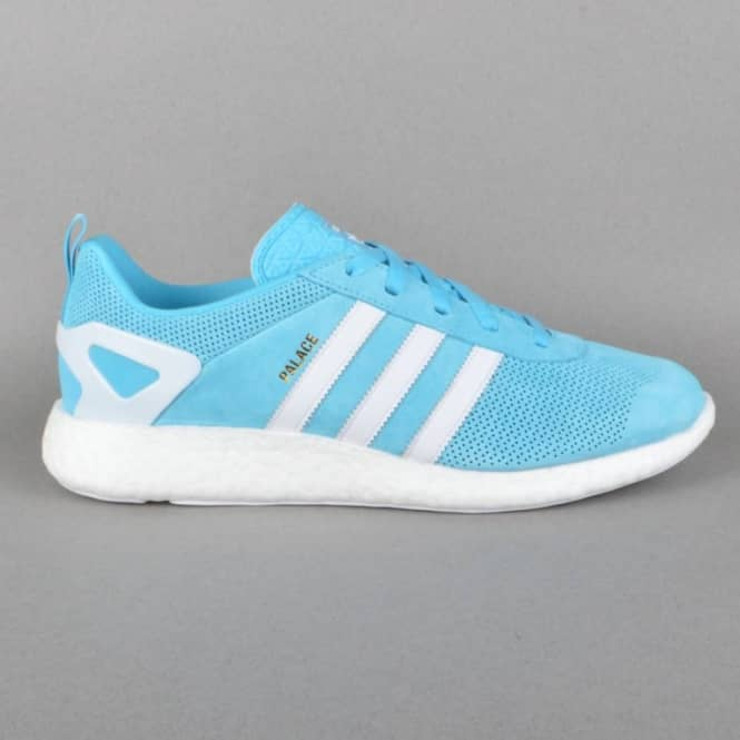x Adidas Originals Palace Pro Boost Shoes - BRCYAN/WHTDOW/GOLDMT