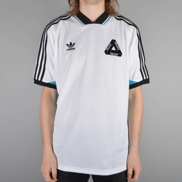 Palace Skateboards x Adidas Originals SSL Team Shirt - White/Bold Aqua