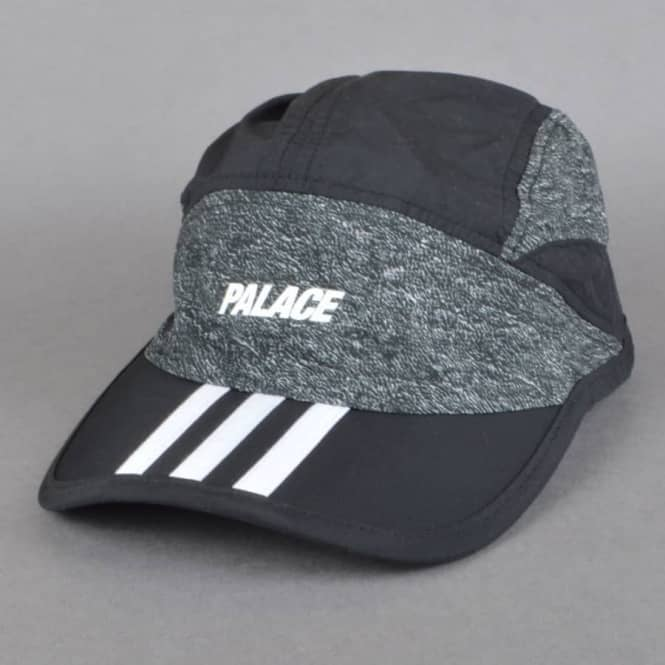 Palace Skateboards x Adidas Originals T Print Hat - Black White ... ade5141362c