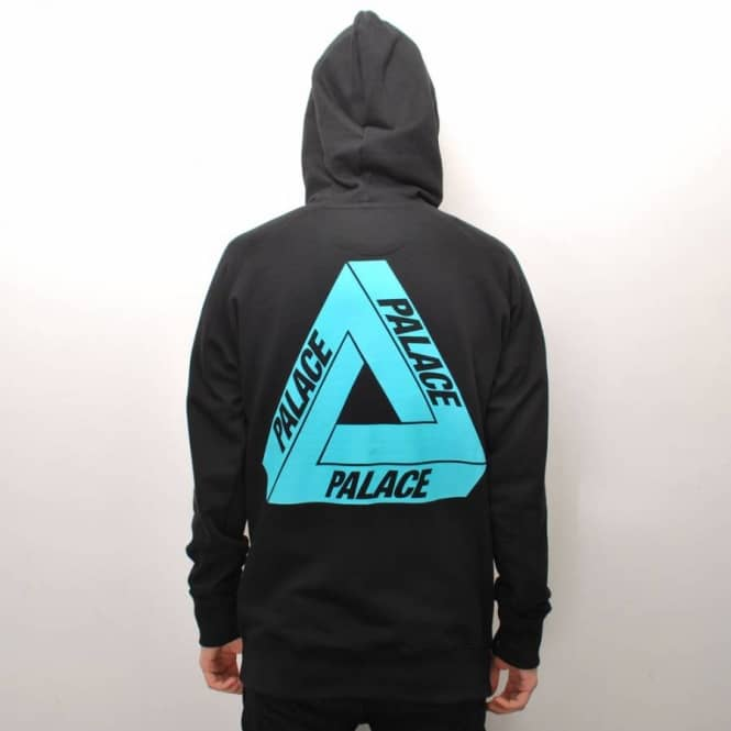 Palace Skateboards Palace Tri-Ferg Iced Out Skate Hoodie - Black - Hooded Tops From Native Skate ...