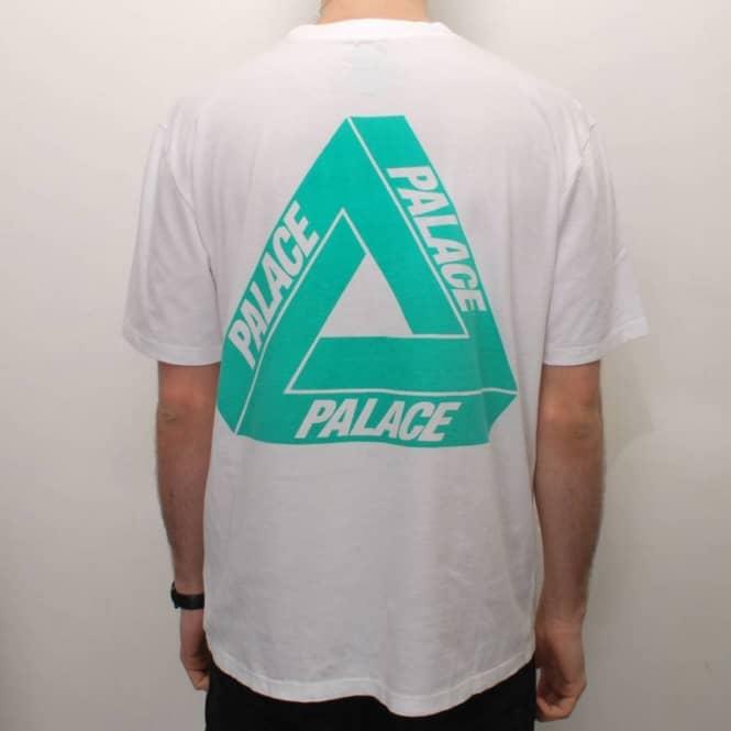 0a13ac41379b Palace Skateboards Palace Tri-Ferg Iced Out Skate T-Shirt - White ...