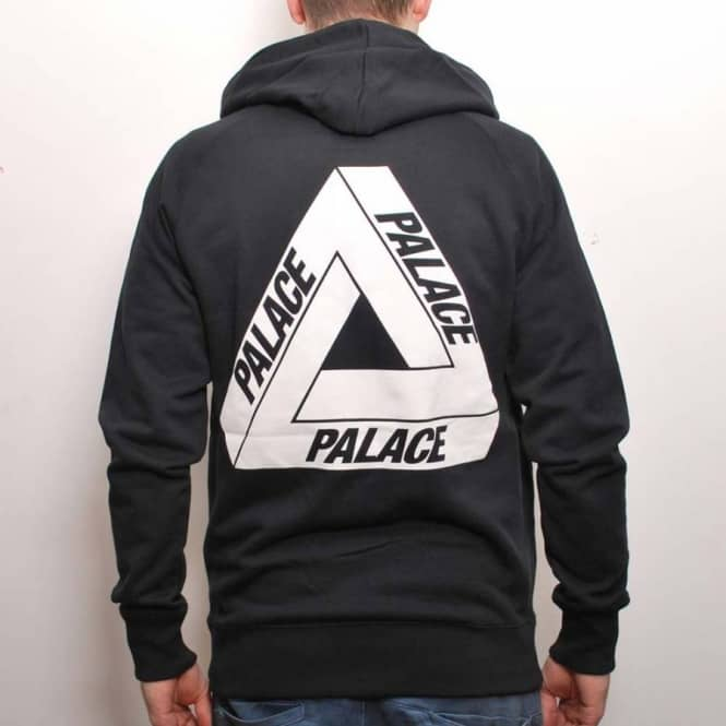 952bf52173ad Palace Skateboards Palace Tri-Ferg Zip Hooded Top Black White ...