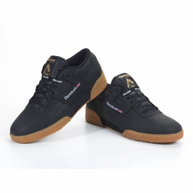 f48adf5f3804 Palace Skateboards Palace Skateboards Palace x Reebok Workout Low - Palace Black White Metallic  Gold