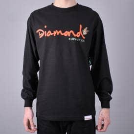 44aff8615 Paradise OG Script Longsleeve T-Shirt - Black · Diamond Supply Co.