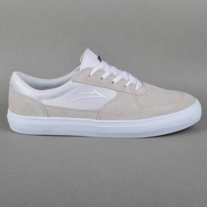 Lakai Parker Chalk Pack Skate Shoes - White/White Suede