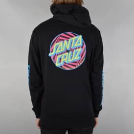 Party Dot Pullover Hoodie - Black