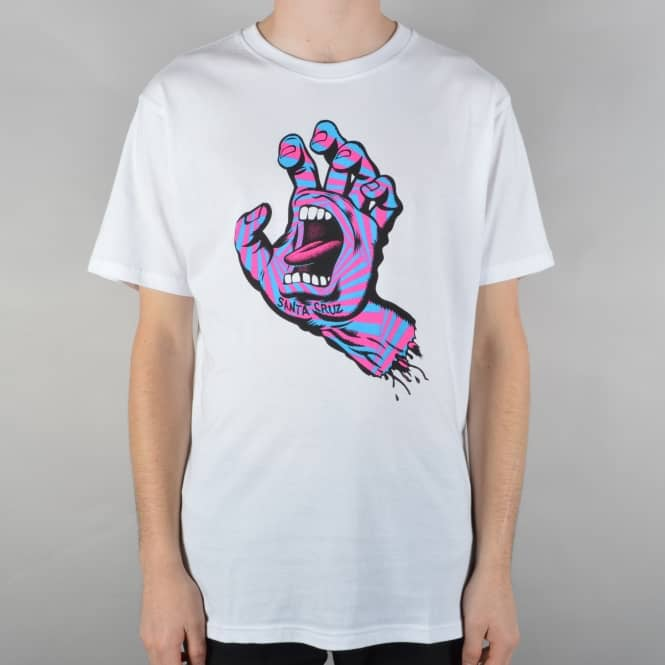 Santa Cruz Skateboards Party Hand Skate T-Shirt - White