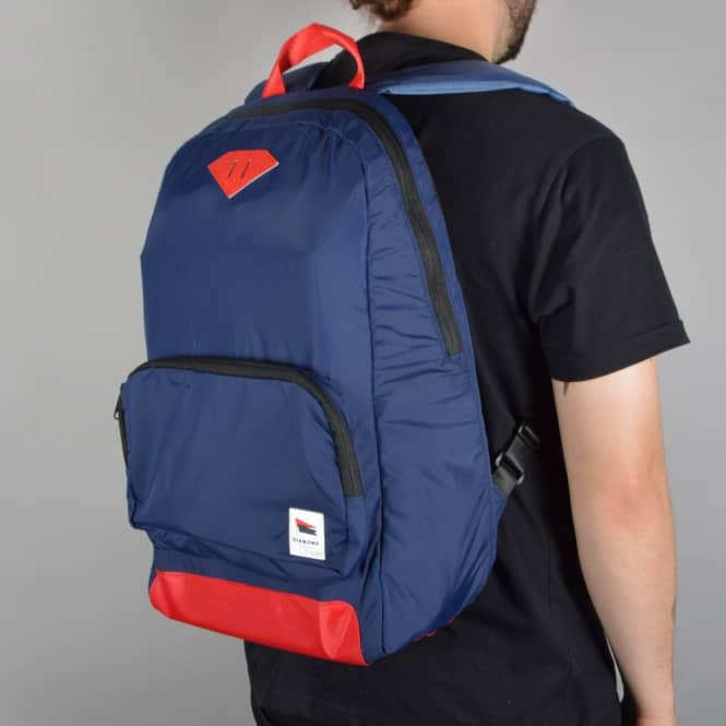 Diamond Supply Co. Pavillion Daypack Backpack - Navy/Red