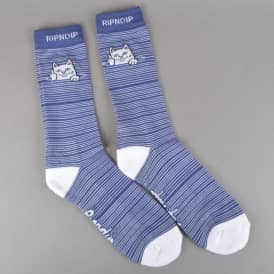 Peek A Nermal Socks - Navy