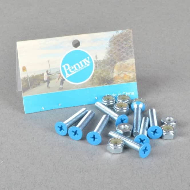 Penny Skateboards Blue Gumball Phillips Truck Bolts - Blue 1.125