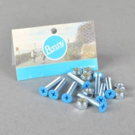 Blue Gumball Phillips Truck Bolts - Blue 1.125