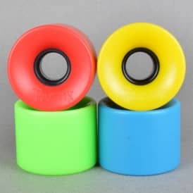 Penny Skateboards Cruiser 79A Mashup Blue/Green/Red/Yellow Skateboard Wheels 59mm