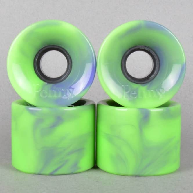Penny Skateboards Penny Cruiser 79A Green/Purple Marble Skateboard Wheels 59mm
