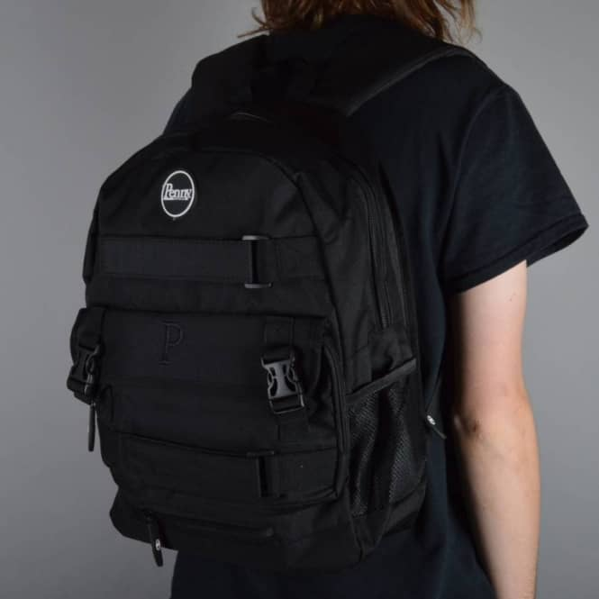 0d1d5b816573 Penny Skateboards Pouch Skate Backpack - All Black - ACCESSORIES ...