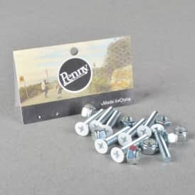 White Gumball Phillips Truck Bolts - White 1.125