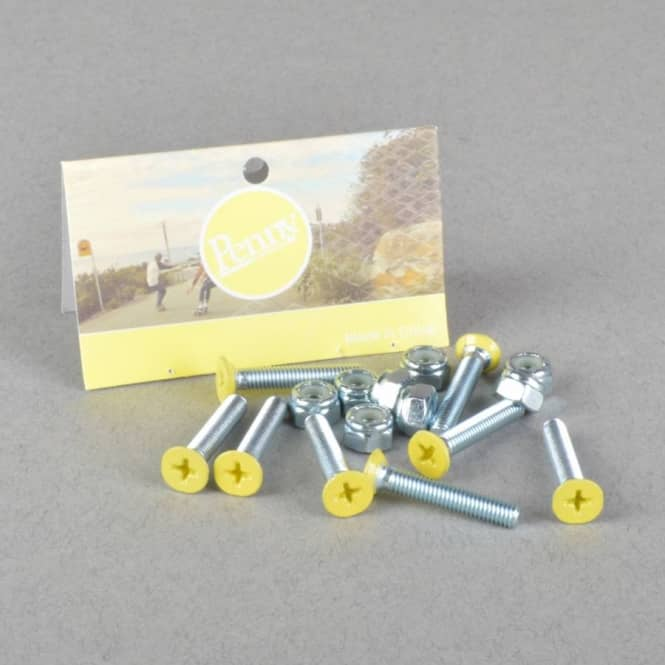 Penny Skateboards Yellow Gumball Phillips Truck Bolts - Yellow 1.125