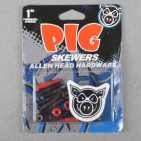 Pig Wheels Pig Skewers Allen Key Truck Bolts 1""