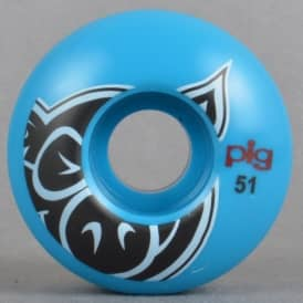 Pig Wheels Head Blue Skateboard Wheels 51mm