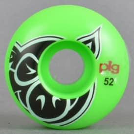 Pig Wheels Head Green Skateboard Wheels 52mm