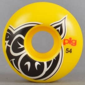 Pig Wheels Head Yellow Skateboard Wheels 54mm