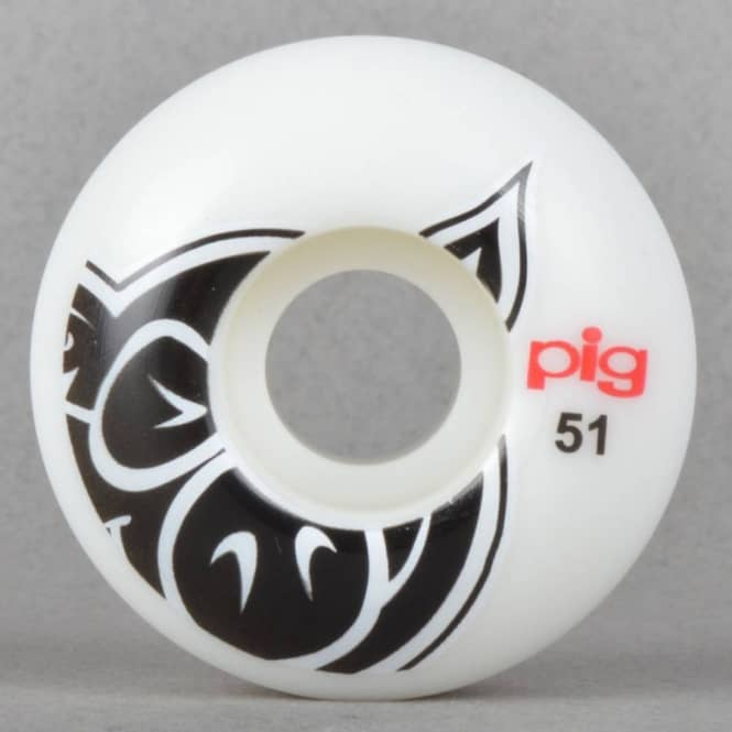 Pig Wheels Pig Head Naturals Skateboard Wheels 51mm